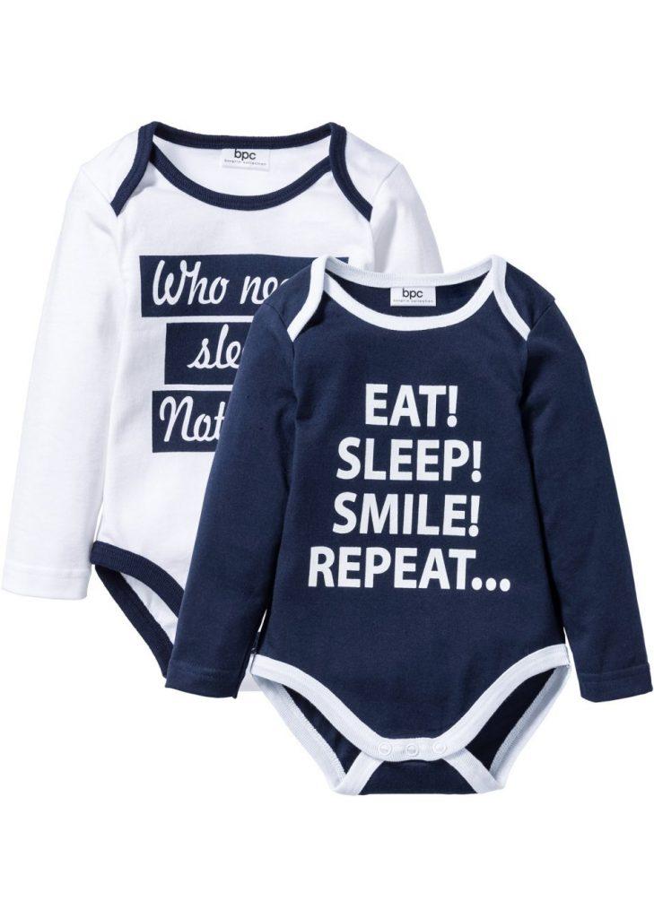body-niemowlece-z-dlugim-rekawem-2-pary-bawelna-organiczna-ciemnoniebiesko-bialy